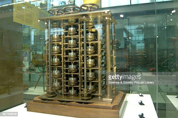 This trial portion of the Difference Engine seen here on display in the Science Museum is one of the earliest automatic calculators and is a...