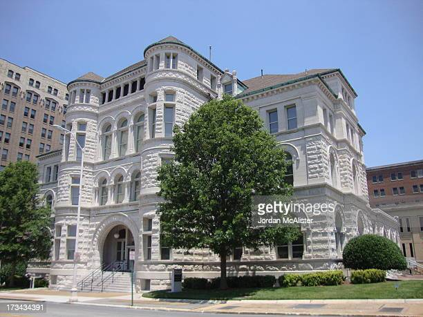 This U. S. Courthouse and former Post Office was completed in 1893 under supervising architect William A. Freret. I believe that it is still in use...