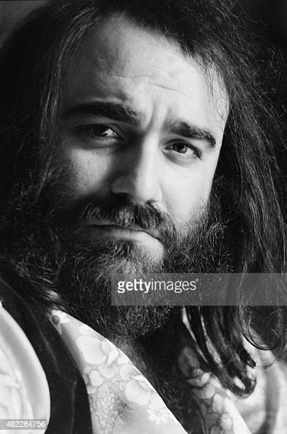 This undated and unlocated photo shows Greek singer Demis Roussos Roussos best known for operatic pop ballads in the 1970s and 1980s died in Athens...