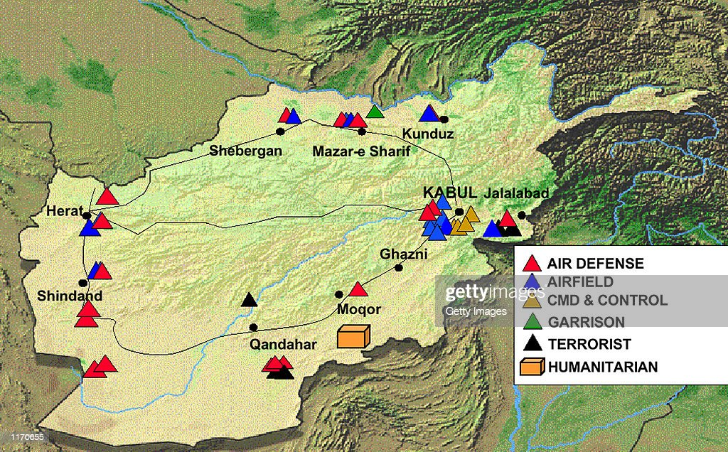 DOD Map Of Afghan SItes Pictures Getty Images - Afghanistan map us