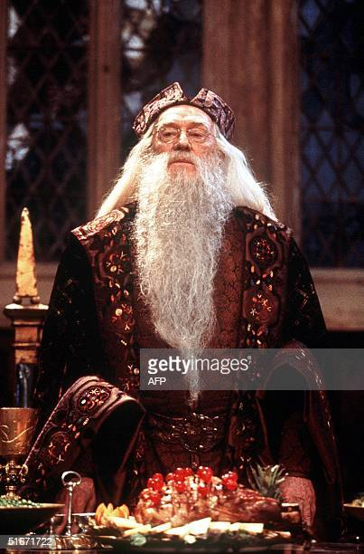 This undated file photo shows Irish actor Richard Harris in the role of Professor Dumbledore in the US film Harry Potter Harris who starred in films...