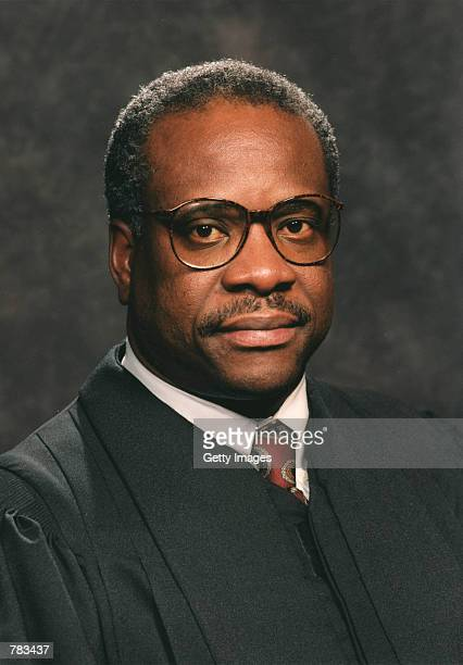 This undated file photo shows Justice Clarence Thomas of the Supreme Court of the United States in Washington, DC.