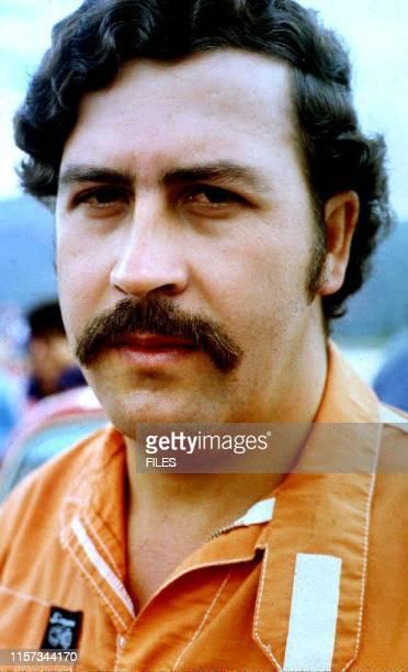 This undated file photo shows Medellin drug cartel leader Pablo Escobar who has been held at the Envigado Prison since 19 June 1991 Escobar and his...