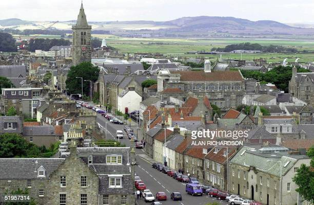 This undated file photo shows St Andrews the university town in Fife Scotland where Prince William will be studying for the next four years from...