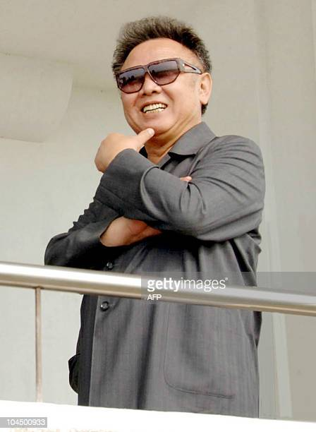 This undated handout picture released from the Korean Central News Agency 09 June 2007 shows North Korean leader Kim Jong Il inspecting the Sinam...