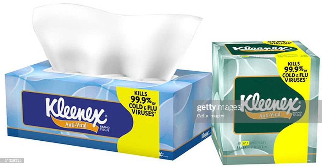 this-undated-illustration-shows-kleenex-brand-antiviral-tissue-on-picture-id51059325