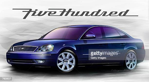 This undated illustration shows the concept for Ford's Five Hundred car one of the 20 new products Ford Motor Company will introduce each year across...