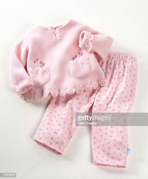 This undated image from the US Consumer Product Safety Commission shows a twopiece fleece pant set for babies three to 24 monthsold sold by Kohl's...