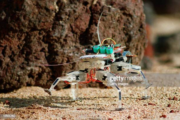 This undated photo from NASA's Jet Propulsion Laboratory shows a new type of robot to be used in future space explorations The robot prototype was...