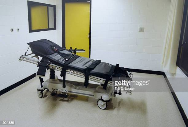 This undated photo shows the death chamber at the Georgia Diagnostic Prison in Jackson GA British national Tracy Housel is scheduled to be executed...