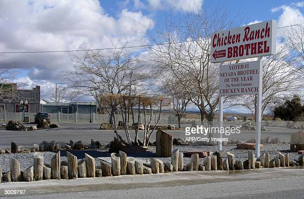 This undated photo shows the entrance to the Chicken Ranch a lisensed brothel in Pahrump Nevada The ranch is one of some three dozen brothels in the...