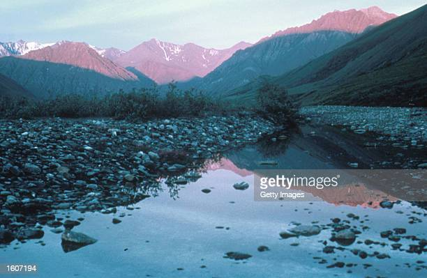 This undated photo shows the Kongakut Valley in the Arctic National Wildlife Refuge in Alaska The Bush administration''s controversial plan to open...