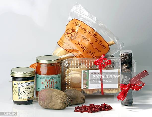 This Valentine collection from Irv Shelly's Fresh Picks a homedelivery service includes local sustainable products strawberry preserves fresh beets a...