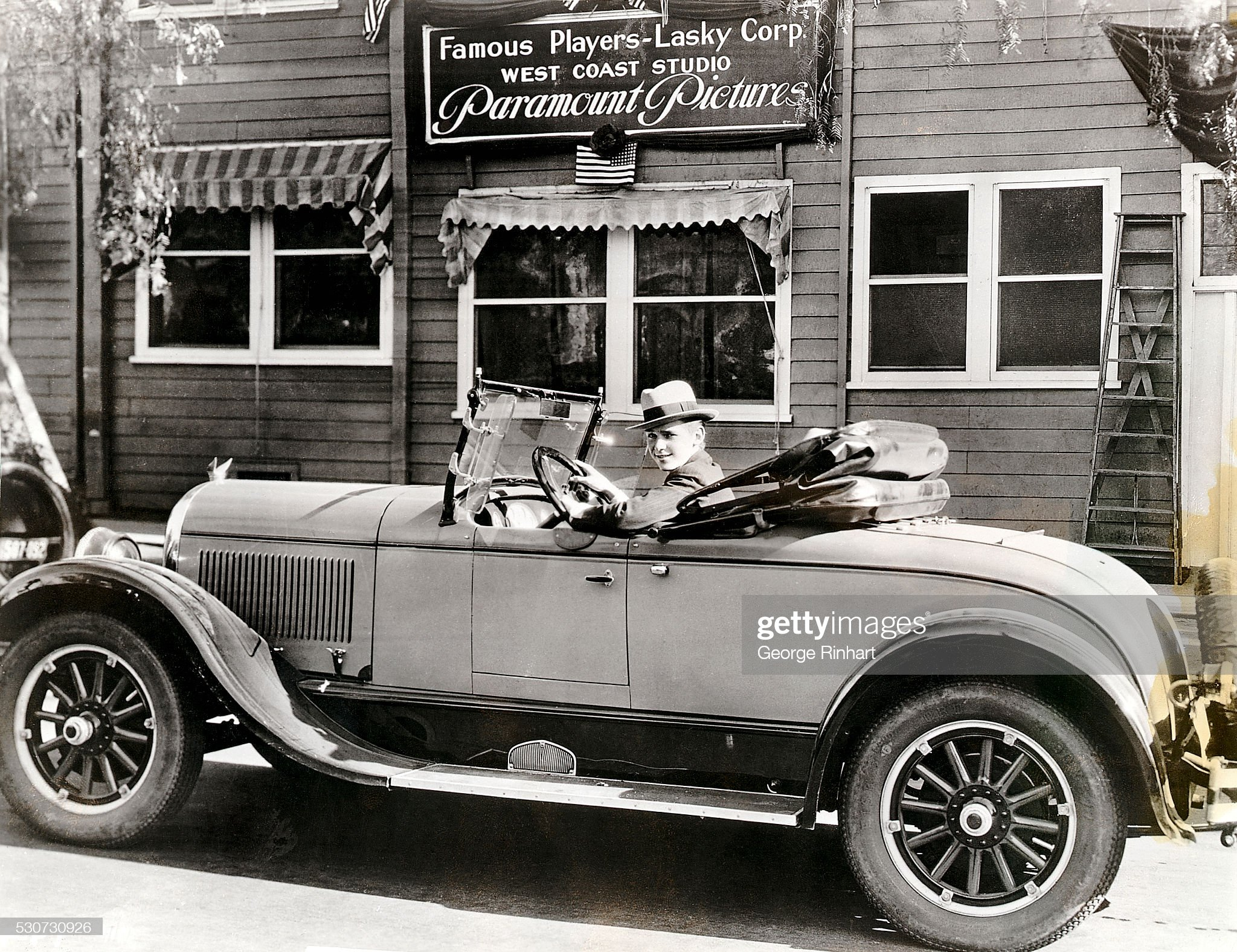 Douglas Fairbanks Jr. at Studio in Car : News Photo
