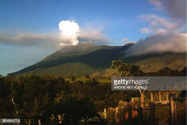 This video grab taken on January 13 2016 shows Kanlaon volcano as it spewed ash into the air on December 26 as seen from the observation post of the...