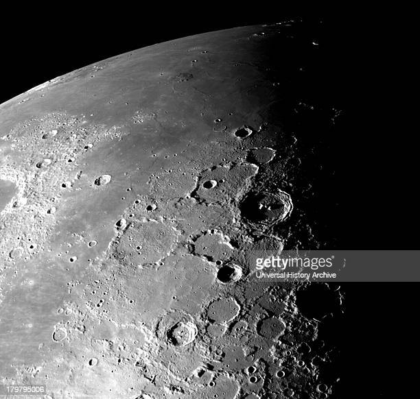 This view of the north polar region of the Moon was obtained by Galileo's camera during the spacecraft's flyby of the EarthMoon system on December 7...