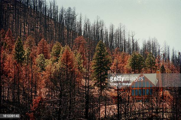 This Wandcrest Park home viewed from Pine Valley Rd in Jefferson County survived last years HiMeadow wildfire mostly due to defensible design of the...