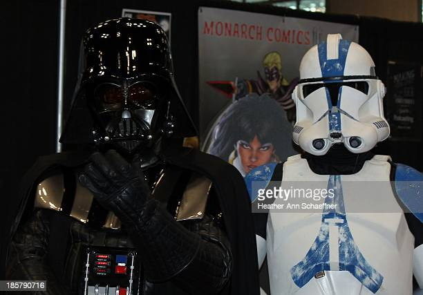 CONTENT] This was an exhibition at New York City Comic Con 2013 where fans could pay to pose for a photo with Darth Vader and some Storm Troopers