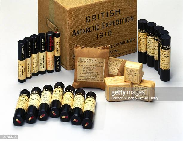 This was made by Burroughs Wellcome and Co for the 1910 British Antarctic Expedition led by Captain Robert Falcon Scott Burroughs Wellcome patented...