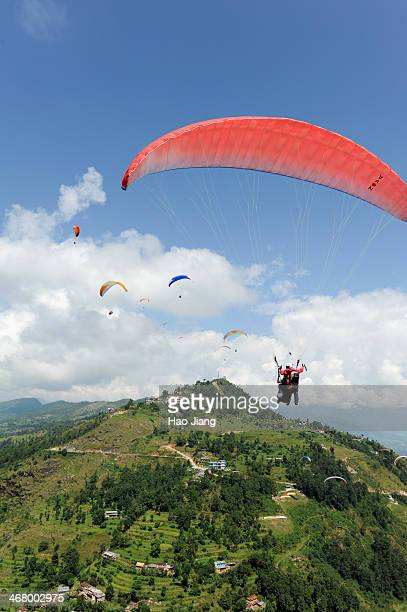 This was taken at paragliding in Pokhara, a must-do thing there.