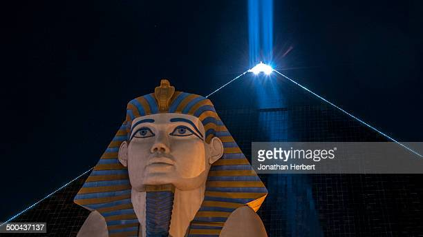 This was taken in Las Vegas and it the Luxor with its light beam.