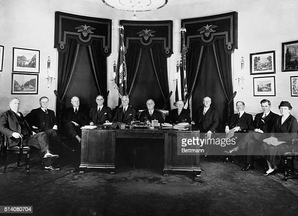 This was the first photograph made of President Franklin D. Roosevelt and the members of his first cabinet in his first administration. The Chief...