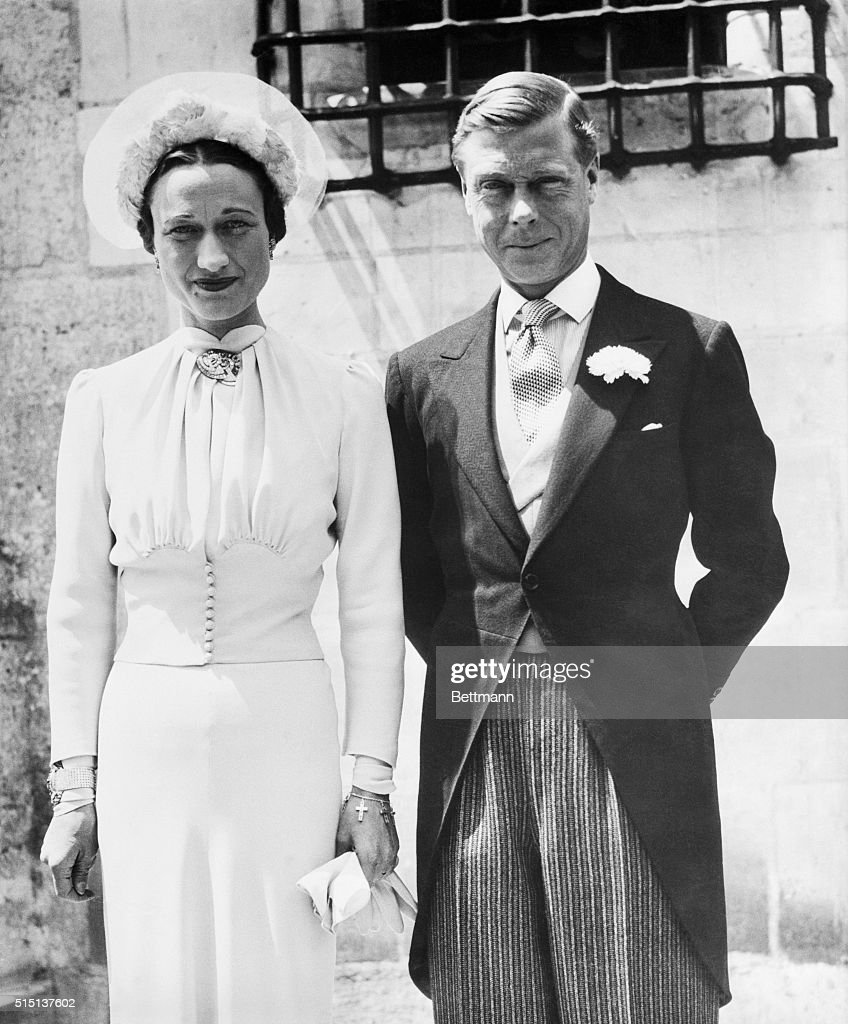 This was the first portrait of the Duke and Duchess of Windsor after their marriage at the Chateau De Cande, in Monts, France, in June 1937. The wedding took place about six months after Edward gave up the throne of England to marry Mrs. Wallis Simpson.