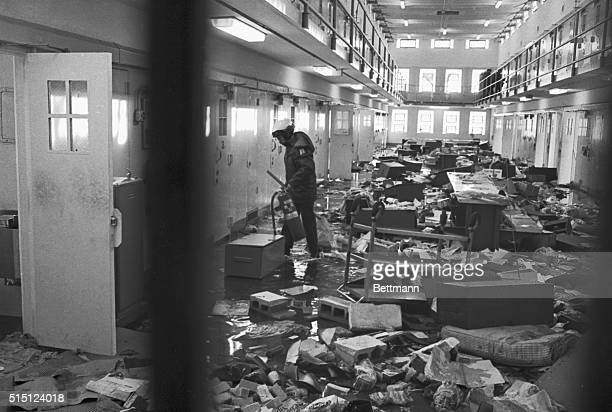 This was the scene in a cellblock at the New Mexico State Penitentiary after 36 hours of rioting ended