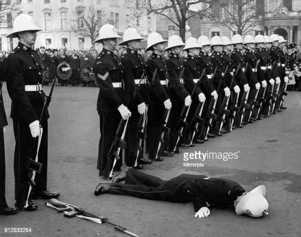 This was the scene in George Square Glasgow when the Royal Marines provided a guard of honour for Remembrance Day service the Cenotaph The Marine...