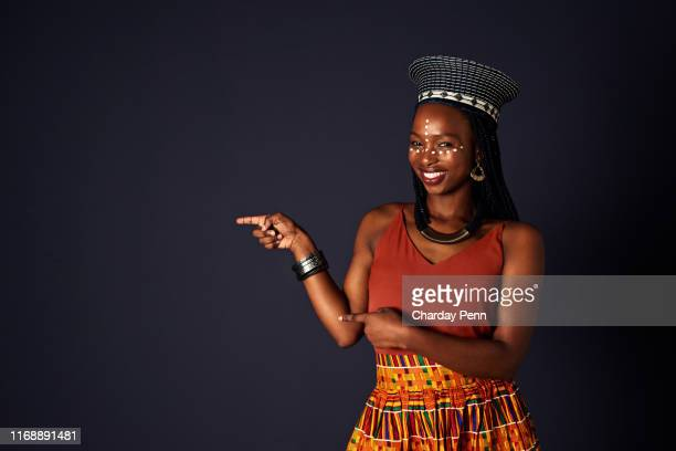 this way to a truly authentic african experience - zulu women stock pictures, royalty-free photos & images