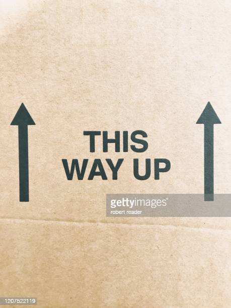 this way up sign - fragility stock pictures, royalty-free photos & images