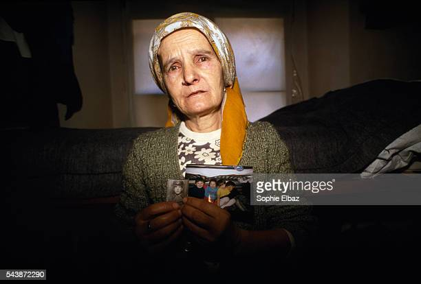 This woman who lost her son and whose grandchildren live in Germany is staying at the Karlovac transit center In Bosnia a European Community...