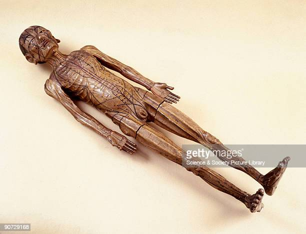 This wooden figure of a man nearly a metre tall was used in acupuncture teaching in China Acupuncture is a medical technique which has been practised...