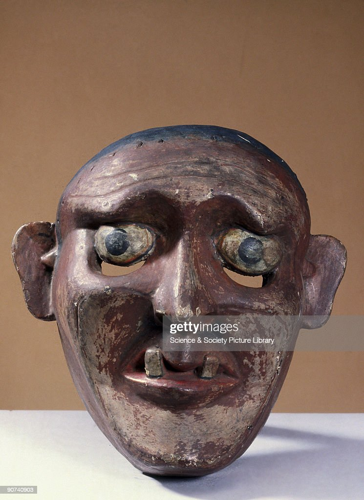 Painted face mask, Sri Lankan, 1771-1920. : News Photo