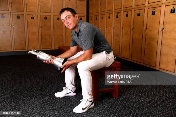 This years Champion Golfer Francesco Molinari of Italy with the Claret Jug in the players locker room after winning the 147th Open Championship at...