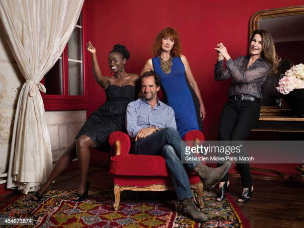 This year's jury are Sabine Azema, Stephane De Groodt , Aissa Maiga and Valery Kaprisky photographed for Paris Match on August 22, 2014 in Angouleme,...