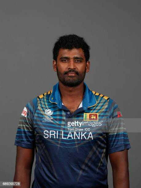 Thisara Perera of Sri Lanka poses for a picture during the Sri Lanka Portrait Session for the ICC Champions Trophy at Grand Hyatt on May 27 2017 in...