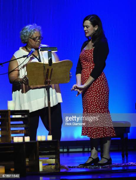 Thistle Farms Rita Childs and Honoree Fiona Whelan Prine during Love Letters: Thistle Farms Turns 20 at the Ryman Auditorium on May 3, 2017 in...