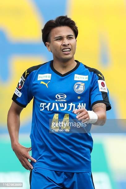 Thitiphan of Oita Trinita in action during the J.League J1 match between Oita Trinita and Sagan Tosu at Showa Denko Dome Oita on May 04, 2019 in...