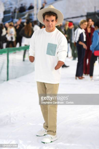 Théo Curin attends the Lacoste Womenswear Spring/Summer 2022 show as part of Paris Fashion Week on October 05, 2021 in Paris, France.