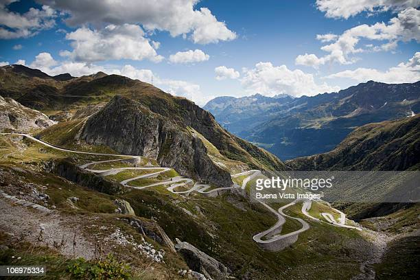Tho old road to Gotthard Pass