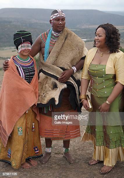 Thobeka Madiba With Mandla Mandela And His French Wife Anais Grimaud During Their Traditional Wedding At