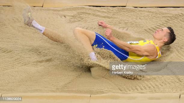 Thobias Nilsson Montler of Sweden competes in the men's long jump event on March 3 2019 in Glasgow United Kingdom