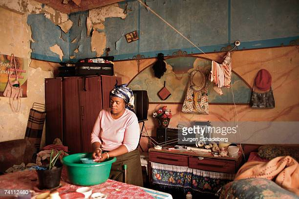 Thobile Ndlovu at home at 60 Joel Street Berea a suburb of Johannesburg circa 2006 She is unemployed and gets child support for her daughter She...