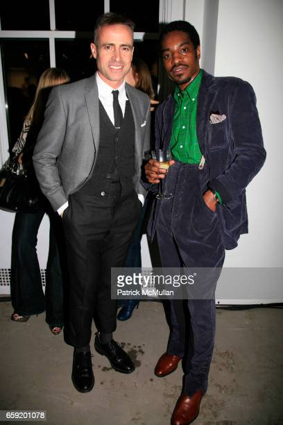 Thom Browne and Andre 3000 Benjamin attend GQ/CFDA Honor Second Annual Best New Menswear Designer in America Finalists at Rockefeller Center on...