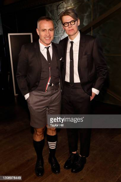 Thom Browne and Andrew Bolton attend the press preview of About Time Fashion and Duration the 2020 Metropolitan Museum of Art Costume Institute...