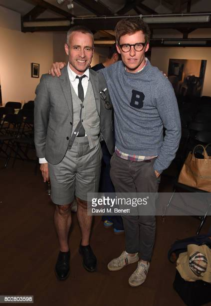 Thom Browne and Eddie Redmayne attend The Art Of Curating Fashion with Andrew Bolton presented by Sarabande The Lee Alexander McQueen Foundation on...