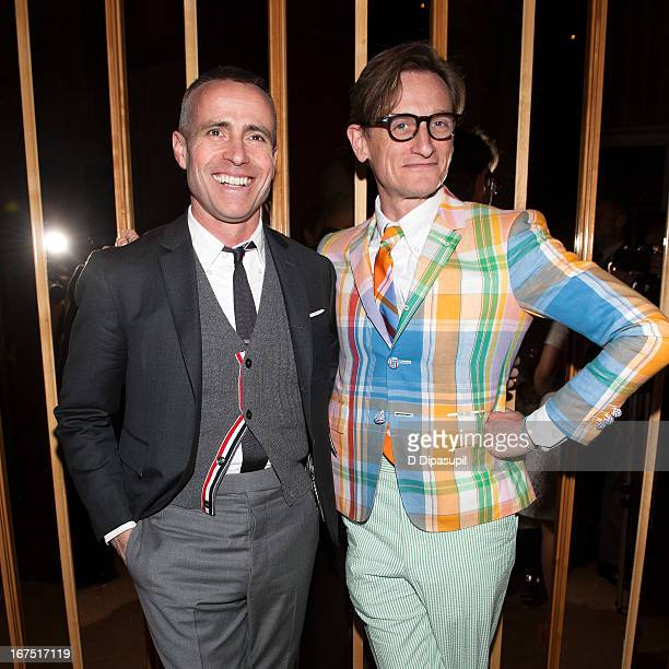 Thom Browne and Hamish Bowles attend the 114th Annual Pratt Institute show and award presentation cocktail benefit at The Top of The Standard on...