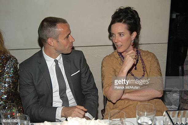 Thom Browne and Kate Spade attend SWAROVSKI Private Dinner to Honor the 2006 CFDA Nominees at Top of the Rock on June 4 2006 in New York City