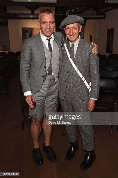 Thom Browne and Stephen Jones attend The Art Of Curating Fashion with Andrew Bolton presented by Sarabande The Lee Alexander McQueen Foundation on...
